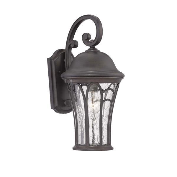 Acclaim Lighting Highgate 19-in Black Coral MarbleX Outdoor Wall Lantern