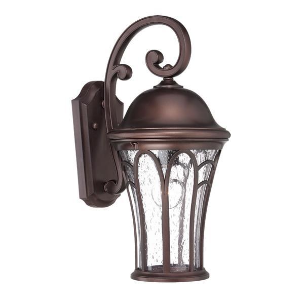 Acclaim Lighting Highgate 16-in Black Coral MarbleX Outdoor Wall Lantern