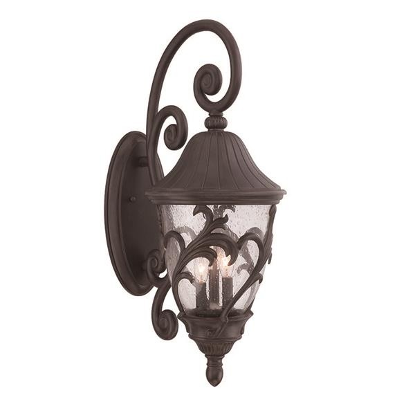 Acclaim Lighting Capri 30-in x 12-in Black Coral Wall Mounted Lantern