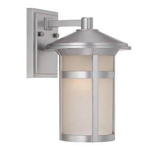 Acclaim Lighting Phoenix 12.12-in Brushed Silver Outdoor Wall Lantern