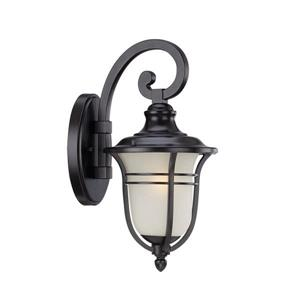 Acclaim Lighting Montclair 13.75-In x 7.00-In Matte Black Wall Mounted Lantern