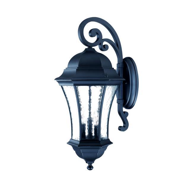 Acclaim Lighting Waverly 26.75-in Matte Black Aluminum 3-Light Outdoor Wall Lantern