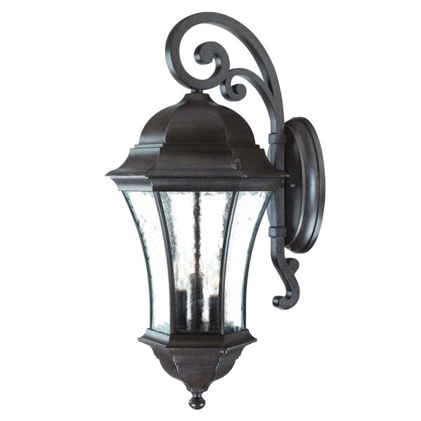 Acclaim Lighting Waverly 26.75-in Black Coral Aluminum 3-Light Outdoor Wall Lantern