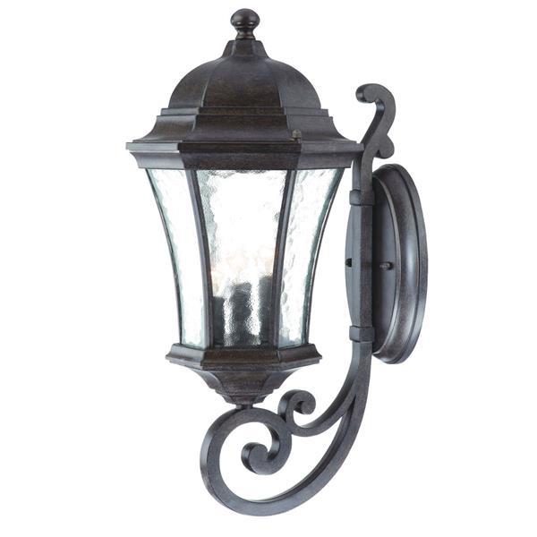 Acclaim Lighting Waverly 19.5-in Black Coral 3-Light Upward Outdoor Wall Lantern