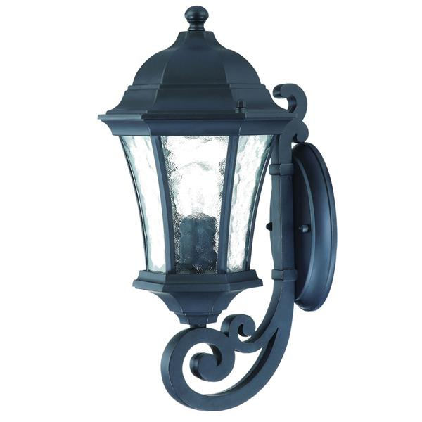 Acclaim Lighting Waverly 16.5-in Black Aluminum Upward Outdoor Wall Lantern