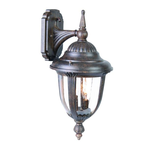 Acclaim Lighting Monterey 20.75-In x 10.00-In Black Coral Wall Mounted Lantern