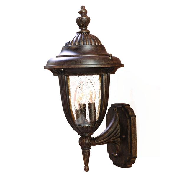 Acclaim Lighting Monterey 20.50-In x 10.00-In Black Coral Wall Mounted Lantern