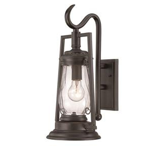 Acclaim Lighting Kero 18.5-in Matte Black Clear Glass Outdoor Wall Lantern