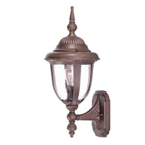 Acclaim Lighting Monterey 17.50-In x 7.50-In Burled Walnut Wall Mounted Lantern