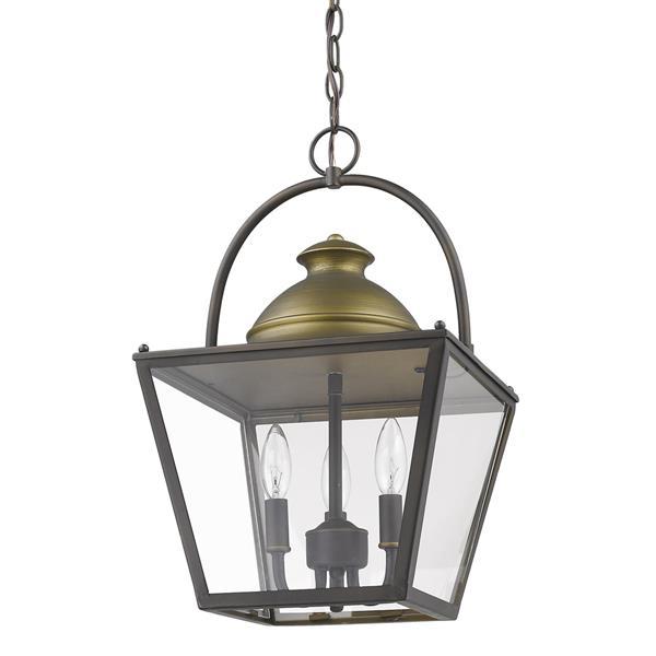 """Lustre Savannah, 3 lumières, 19,75"""", bronze"""