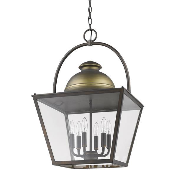 Acclaim Lighting Savannah 28.75-in Bronze 6-Light Chandelier