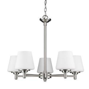 Acclaim Lighting Paige 5-Light Nickel Chandelier