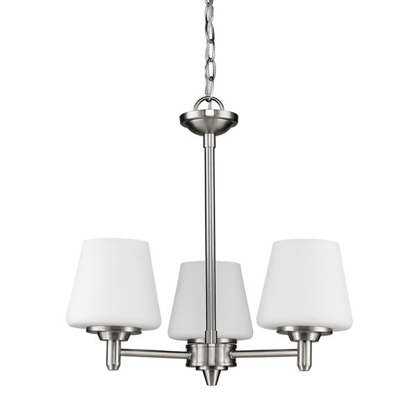 Acclaim Lighting Paige 3-Light Nickel Chandelier