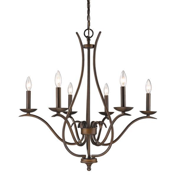 Acclaim Lighting Genevieve 28-in Bronze 6-Light Chandelier