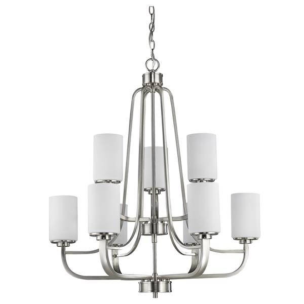 Acclaim Lighting Addison 9-Light 32.5-in Nickel Chandelier