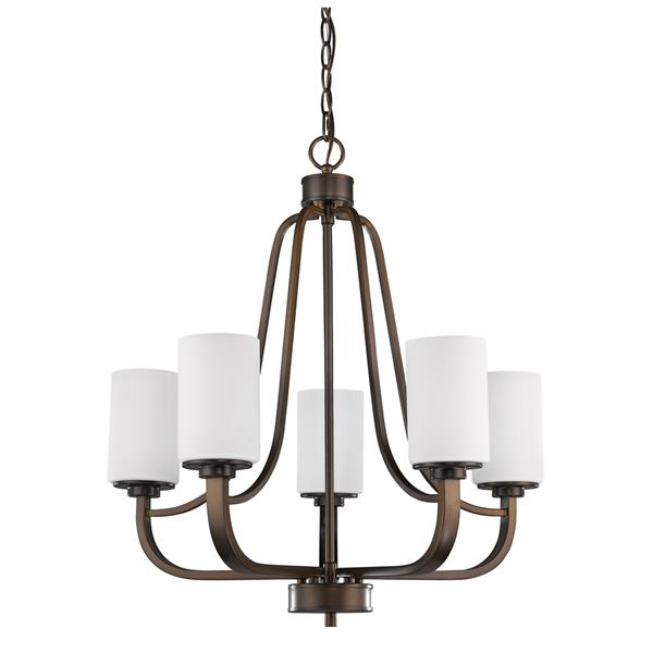 Acclaim Lighting Addison 5-Light 26-in Bronze Chandelier