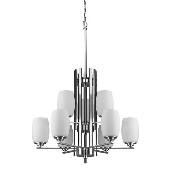 Acclaim Lighting Sophia 42.5-in Nickel 9-Light Chandelier
