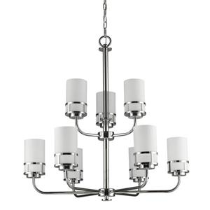 Acclaim Lighting Alexis 9-Light 31.25-in Nickel Chandelier
