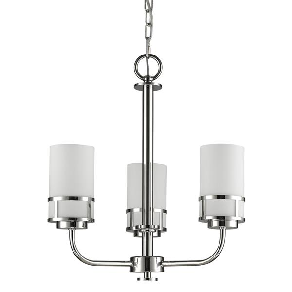 Acclaim Lighting Alexis 3-Light 20-in Nickel Chandelier