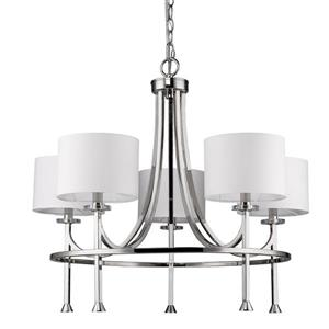 Acclaim Lighting Kara 24.5-in Nickel 5-Light Chandelier