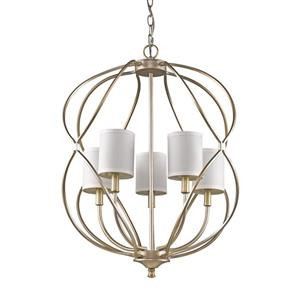 Acclaim Lighting Sharon 29.25-in Pewter 5-Light Chandelier