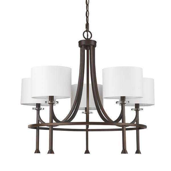 "Lustre Kara, 5 lumières, 24,5"", bronze"
