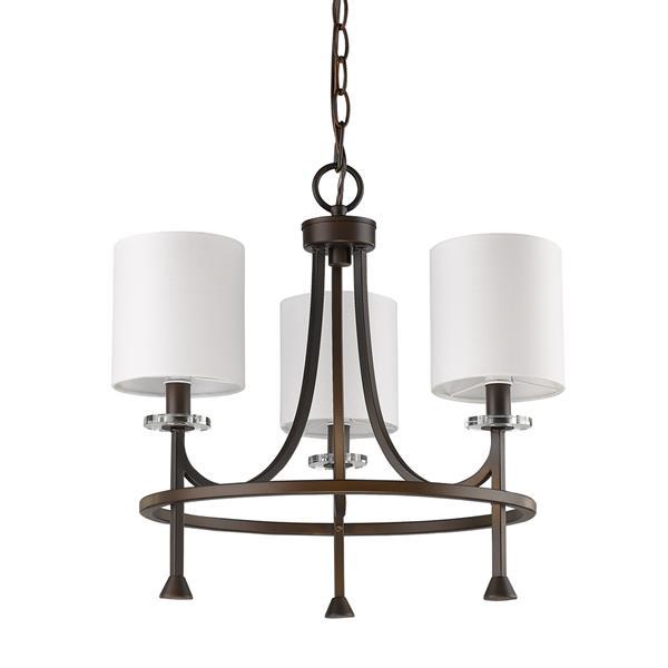 Acclaim Lighting Kara 16.5-in Bronze 3-Light Chandelier