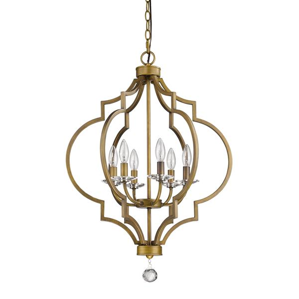 Acclaim Lighting Peyton 6-Light 30-in Brass Chandelier