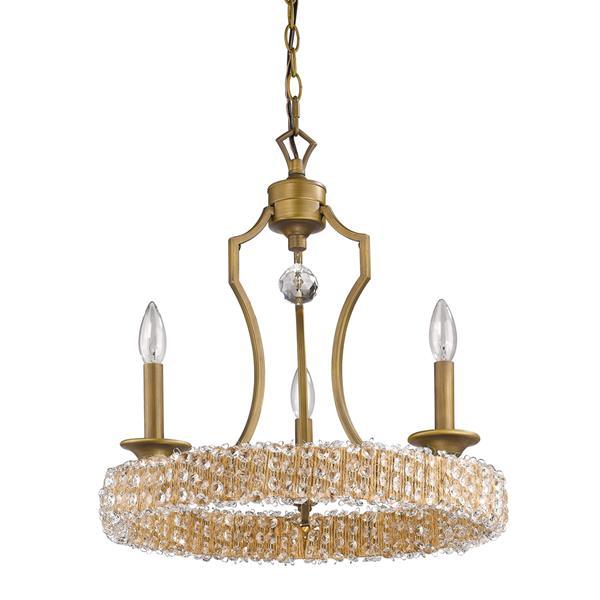Acclaim Lighting Ava Chandelier 3 Lights 19.75-in Brass Chandelier