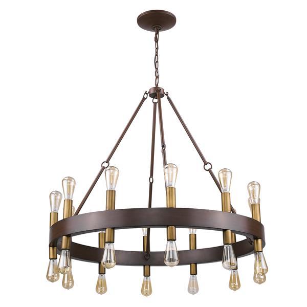 Acclaim Lighting Cumberland 39.25-in Brown 24-Light Chandelier