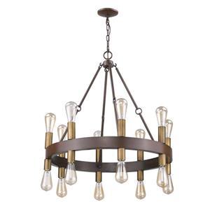 Acclaim Lighting Cumberland 28.75-in Brown 16-Light Chandelier