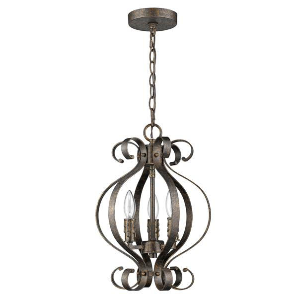Acclaim Lighting Lydia 17-in Brown 3-Light Chandelier