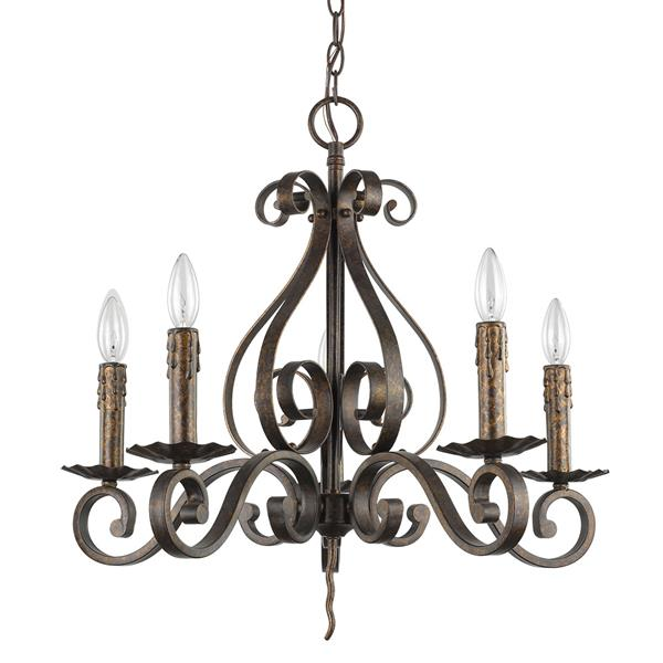 Acclaim Lighting Lydia 21.5-in Brown 5-Light Chandelier
