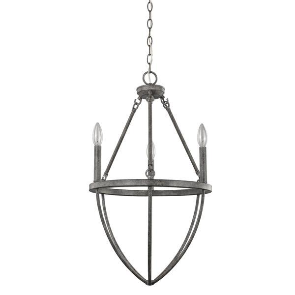 Acclaim Lighting Harlow 27-in Gray 3-Light Chandelier