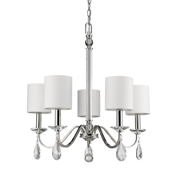 Acclaim Lighting Lily 23.75-in Nickel 5-Light Chandelier