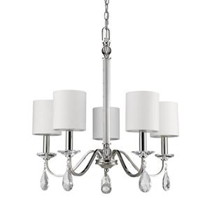 "Lustre Lily, 5 lumières, 23,75"", nickel"