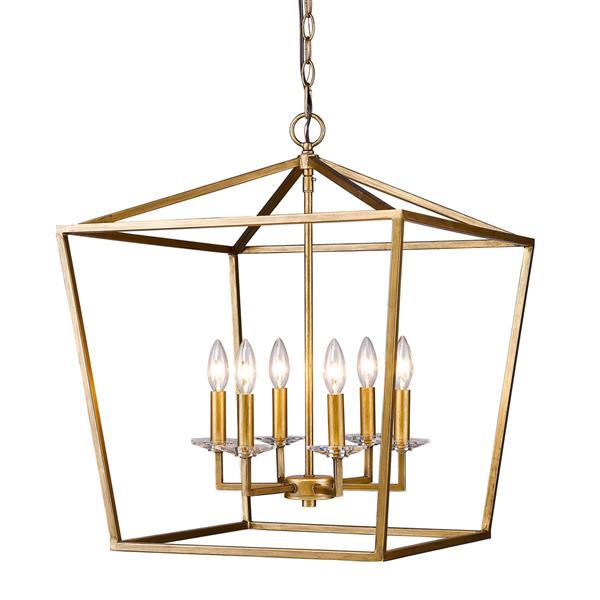Acclaim Lighting Kennedy 24-in Gold 6-Light Chandelier