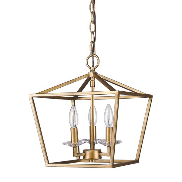 Acclaim Lighting Kennedy 14.5-in Gold 3-Light Chandelier