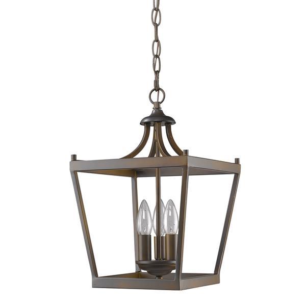 Acclaim Lighting Kennedy 16-in Bronze 3-Light Chandelier