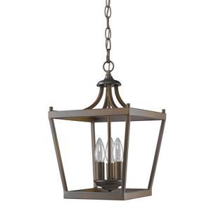 "Lustre Kennedy, 3 lumières, 16"", bronze"