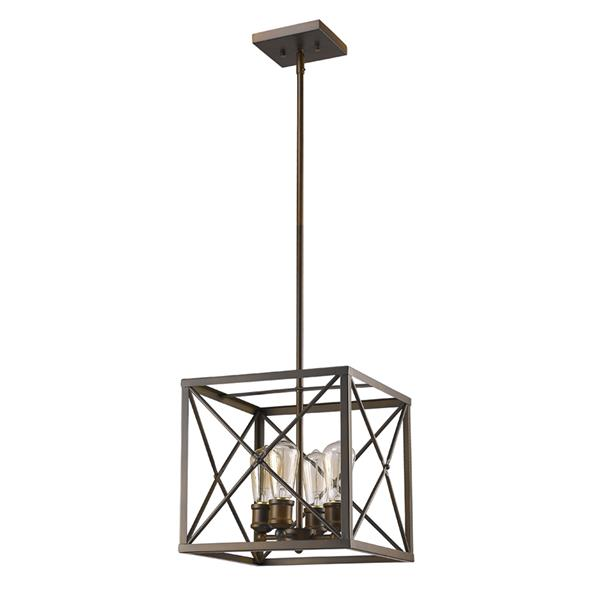 Acclaim Lighting Brooklyn 4-Light 12-in Bronze Chandelier