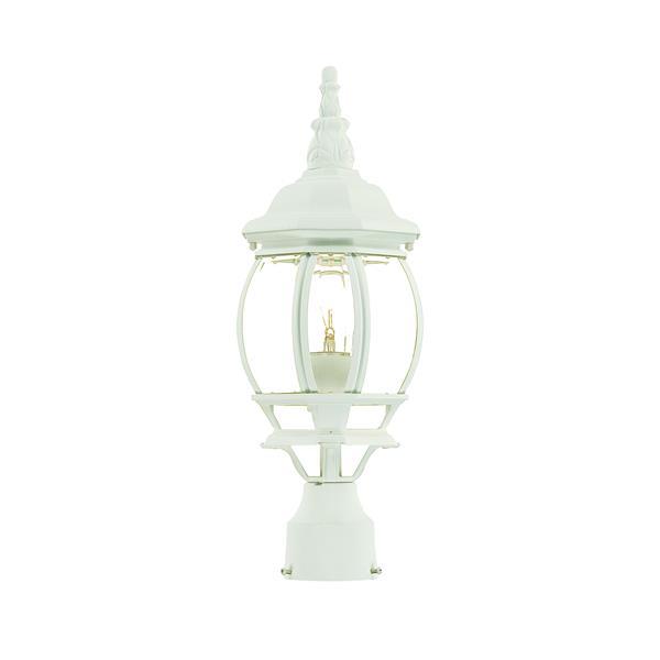 Lanterne extérieure Chateau , 1 ampoule, aluminium, blanc