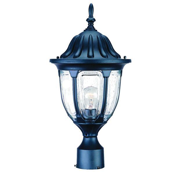Acclaim Lighting Suffolk Outdoor Lantern  - 1 Bulb - Cast aluminum - Black
