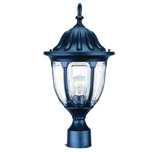 Acclaim Lighting Suffolk Outdoor Lantern  - 1 Bulb - Cast aluminum - Black