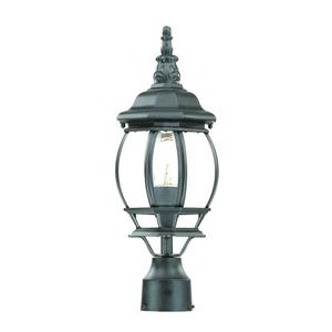 Acclaim Lighting Chateau Outdoor Lantern  - 1 Bulb - Cast aluminum - Black