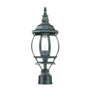 Lanterne extérieure Chateau , 1 ampoule, aluminium, noir