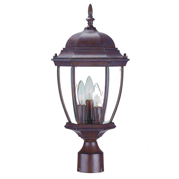 Acclaim Lighting Wexford Outdoor Lantern  - 3 Bulbs - Cast aluminum - Brown