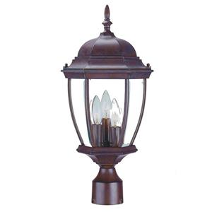 Acclaim Lighting Wexford Outdoor Lantern  - 3 Bulbs - Cast aluminum - Brown
