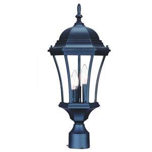 Acclaim Lighting Bryn Mawr Outdoor Lantern  - 3 Bulbs - Cast aluminum - Black