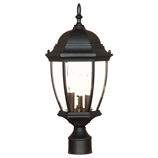 Acclaim Lighting Wexford Outdoor Lantern  - 3 Bulbs - Cast aluminum - Black